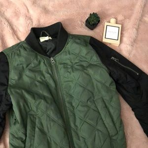 UO quilted bomber jacket